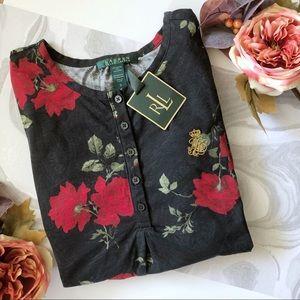 🆕 Ralph Lauren Floral Night Shirt